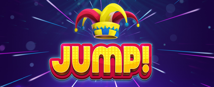 Jump! is a five-reel video slot that offers from 192 up to 1,024 ways to win. Everything revolves around the Joker Wild symbol, which appears on the reels and jumps around during the respins and the Free Spins feature. The 2018 release offers a peculiar 2-3-4-4-4 reel grid in base game that offers 192 ways to win and expands during respins and free spins until all the reels are four-cell high and offer 1,024 ways to win. Look for the Joker Wild to increase your winning opportunities, get respins and free spins.