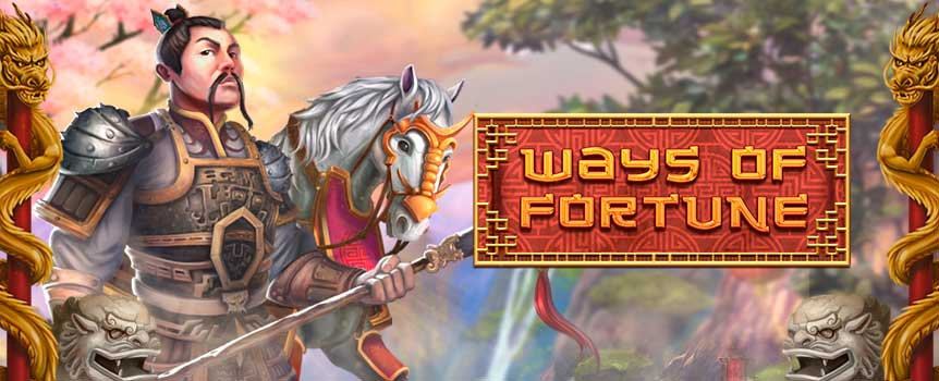 Ways of Fortune Slot is 5 reels, 4 rows and 576 paylines video slot, paying from left to right. You'll be able to join the mighty Samurai who rules the reels as you follow his lead to big wins. Visually the slot looks great with themed icons such as the War Horse, Totem, Sword and Helmet. You've also got the traditional lower paying symbols which all make up for a great game. You can help the Samurai and spin the reels here for free or at any online casino for real.