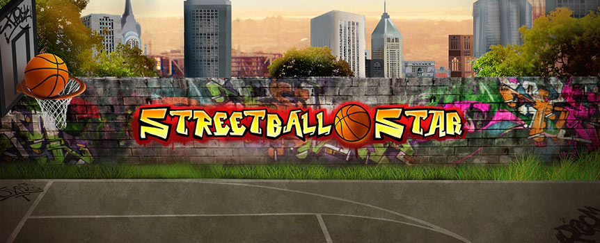 No matter what time of day, the outdoor basketball courts are always brimming with fast-pace action in Streetball Star. You can score 243 unique ways simply by landing matching icons on consecutive reels.