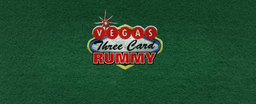Learn how to play the online casino game Vegas Three Card Rummy, take your spot at the table and get ready to show the dealer what you're made of. This Table Game is played with a 52-card deck and both the player and dealer are dealt three cards. Your mission is simple: land a hand total of a lesser value than the dealer and all you've got to do is sit back, relax and collect. The dealer's hand value must equal 20 points or less for it qualify. If the dealer doesn't qualify, you win even money on the Ante and the Raise is returned to you. The payout for the Bonus Bet is determined independently from the Dealer's hand. How To Play Vegas Three Card Rummy Cards are dealt from a single 52-card deck. Both the dealer and player receive three cards. The dealer's cards are dealt face down. The Bonus Bet is paid based on the pay table located below. Cards are shuffled after every hand. The player wins if: Ante: If the player's three-card point total is less than the dealer's or if the player raises and the dealer doesn't qualify (his hand exceeds the 20 point hand value). Raise: If the player's three-card point total is less than the dealer's and the dealer qualifies with a hand value of 20 points or less. Bonus Bet: The player is dealt a hand totalling 12 points or less. The player loses if: Ante: If the player folds or if the dealer has a lower hand value than the player. Raise: If the dealer has a lower hand value than the player. Bonus Bet: If the player's hand value doesn't come out to 12 points or less. Card Values Cards 2 through 10 = face value Jack, Queen, King = 10 points Aces = 1 point Any pair = 0 points Any triple = 0 points Two-card suited run = 0 points Three-card suited run = 0 points Ace, King is not a suited run *Important - When a hand can be scored as either a pair or a two-card suited run and neither leads to a lower score, the two-card suited run will always be used to determine the score. When a hand can be scored as either a pair or a two-card suited run, the two cards that will be chosen will result in the lowest possible score for a given hand. Payouts The Ante Bet: After placing an Ante bet, the player is dealt three cards face up and the dealer receives three cards face down. If the player does not believe their hand can beat the dealer's, the player can fold and forfeit the Ante bet. If the player believes their hand can beat the dealer's hand, they must Raise with a bet amount equal to the Ante. After Raising, the dealer's cards are revealed. To qualify, the dealer's hand value must be equal to 20 points or less. If the dealer's hand qualifies, it will be compared to the player's hand and the winner will be decided based on who has the lowest hand value. If the dealer has the lowest point total, the player loses both the Ante and Raise bets. If the dealer does not qualify, the player wins even money on the Ante and the Raise bet is returned. If the Player has the lowest point total, the Ante is paid 1:1 and the Raise bet is paid according to the pay table below. Payouts - Raise Bet: ##insert table## The Bonus Bet: The Bonus Bet is won if the player's hand contains 12 points or less. The Bonus Bet is not measured against the Dealer's hand. It is paid out based on the total point value of the hand dealt (see pay table below). If the player bets on the Ante and folds the hand, the Bonus Bet is forfeited. ##insert table## Buttons and Player Actions Deal – To begin playing, the player must select the chip value they wish to bet and then press the Deal button. The player is then dealt three cards face up and the dealer is dealt three cards face down. Raise - If the player thinks they can beat the dealer, they can click the Raise button to continue playing. The Raise amount will be equal to their Ante. The dealer's cards are then revealed and compared to the player's hand and a winner is determined. Fold - Clicking on the Fold button ends the current game and forfeits the Ante and any Bonus Bets. Rebet - Clicking on the Rebet button allows the player to play the next game with the same bet amount as the last game and deals the cards.