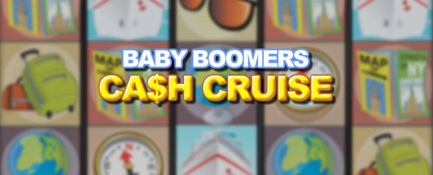 For the Baby Boomers generation, the living is easy and full of exciting getaways and cruises, which is what this 15-line i-Slot™ is all about. What's more, Baby Boomers Cash Cruise gives you four slot games in one adventurous package. Of course, before you embark on your journey, you'll need to pop into the travel agency to plan your itinerary and gather all your travel essentials and bookings. Once you make it to the bonus round, you'll find yourself shipped off to one of three stunning destinations. Will you end up in scenic Alaska, the Caribbean Carnival, or unwind in Greece? There's also the chance to win big with bingo or clay pigeon shooting during your travels. So play now and don't miss out on the adventure of a lifetime. All aboard!
