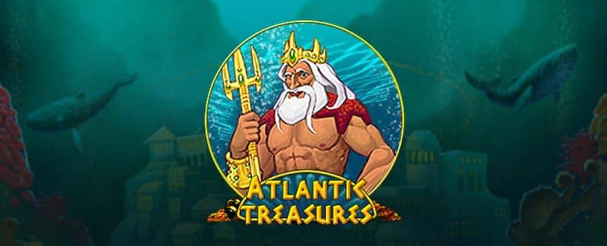 Dive as deep as you can seeking for treasures in the lost city of Atlantis. Beware of the mighty Octopus' deadly ink on the treasure hunt bonus game. Call upon King of Atlantis' force to help you in your quest for gold