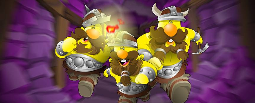 Venture deep down into the world's most bountiful mineral mines and swing that silver hammer to reveal a golden glow that will light up the darkness. Your goofy mining buddy will keep you in good spirits as you pick away in search of golden nuggets. The game provides you with all the essential gear used by real minors. You'll need a bucket for your golden nuggets, a spade, your trusty mining cart, a wheelbarrow, a pickaxe, a mallet and of course a lantern to light your way through the spiraling wooden footpaths. Bear in mind, you're not the only one with a hunger for gold. A greedy green goblin dwells somewhere in the mines and will do anything to guard his precious supply of gems.