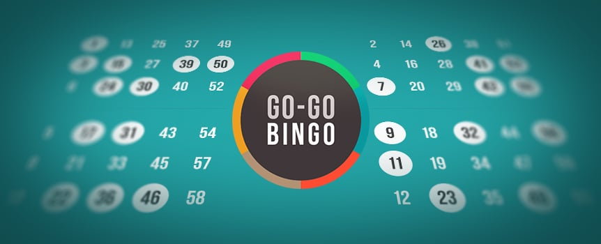 You don't have to leave the house to play this exciting game of bingo. Sit back and enjoy Go-Go Bingo, where a total of thirty numbers between one and sixty will be drawn each round. When the round is over, if you're short a number, you get another opportunity. You'll also have loads of chances to land on any of the twelve winning patterns plus with the Extra Balls feature, you can buy up to nine more – that's nine extra chances at a huge jackpot. So what are you waiting for? Go play Go-Go Bingo!