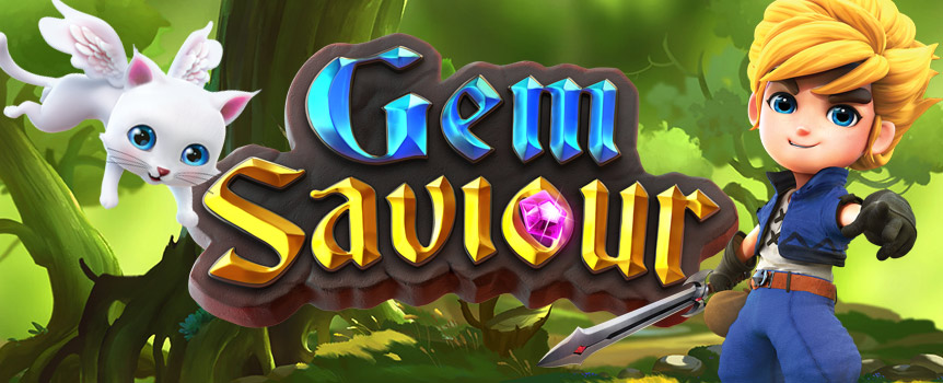 ROLE-PLAY AS GEM SAVIOUR AS HE JOURNEYS TO SAVE GEM VILLAGE!  Experience 4 different yet exciting gameplay scenarios while using the power of gems to overcome obstacles! After vanquishing relics using his sword, the Gem Saviour stands a chance to be rewarded with money bags, treasure maps or treasure chests!